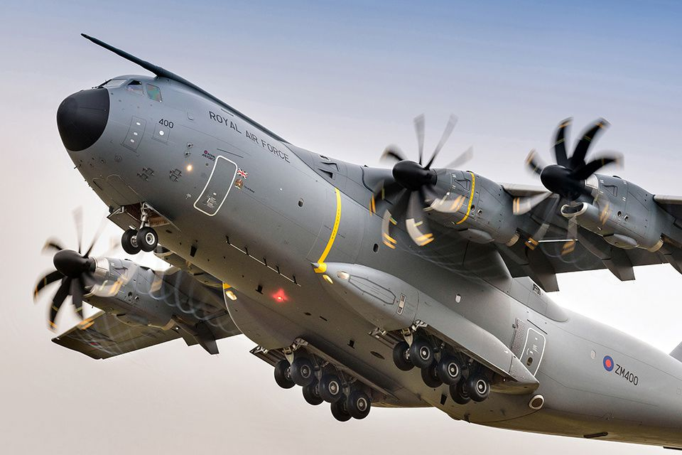 The RAF's seventh A400M. Photo UK MoD