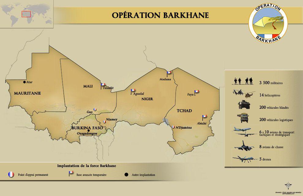 Coup d'Etat au Burkina: les militaires français sur place n'ont pas à interférer