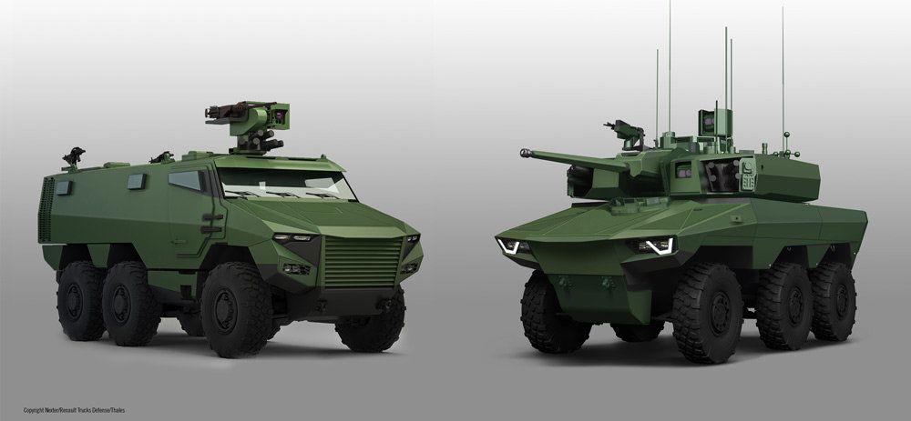 SLATE protégera bientôt les futurs VBMR Griffon et EBMR Jaguar appelés à moderniser la cavalerie de l'armée de Terre (Crédit: RTD/Nexter Systems/Thales)