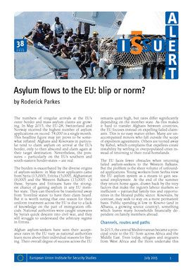 Asylum flows to the EU: blip or norm? (Jul 2015) - EUISS