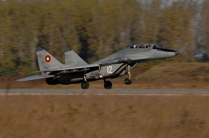 Bulgarian Air Force MiG-29 Fulcrum aircraft - photo USAF