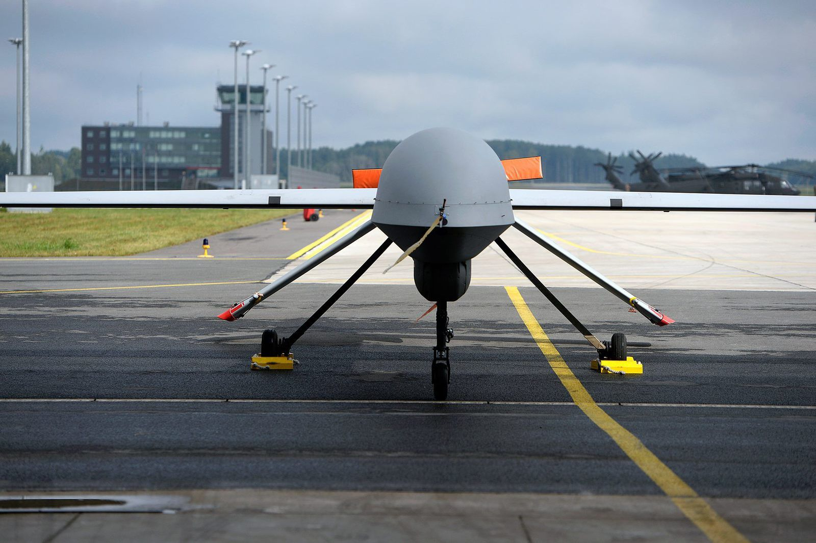 A 147th Reconnaissance Wing MQ-1B Predator is parked at Lielvārde Air Base, Latvia, Aug. 31, 2015..jpg