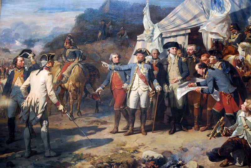 Siège de Yorktown - par Auguste Couder