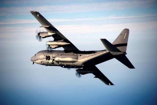 AC-130 flying gunship - photo USAF