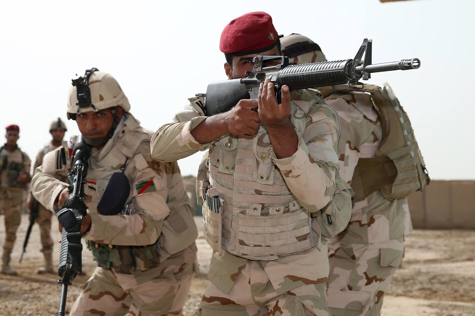 Iraqi soldiers of the Taji Military Complex's Non Commissioned Officer Academy - photo US DoD