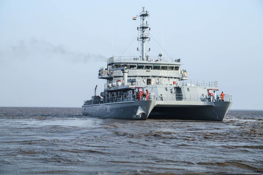 INS Astradharini will be sued to carry out the technical trials of underwater weapons and systems. Photo Indian Navy.