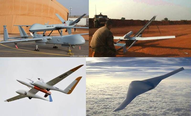 Drone - UAV (photo Armée de l'Air, Armée de Terre, Onera,Dassault Aviation)