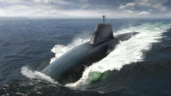 Artist's impression of the Successor submarine. Image by BAE Systems