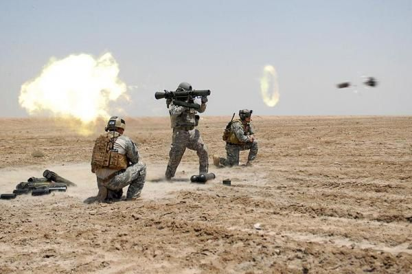U.S. soldiers train with the shoulder-fired Carl-Gustaf weapon system. Photo by Spc. William Hatton, U.S. Army.