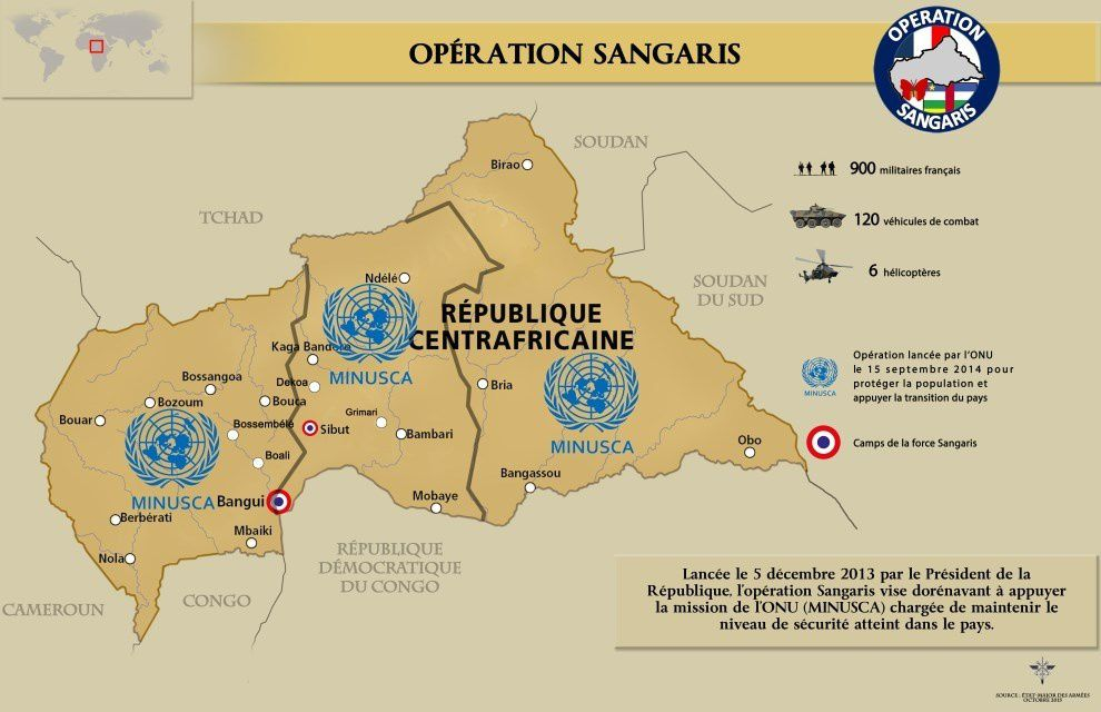 Sangaris : Point de situation au 15 octobre 2015