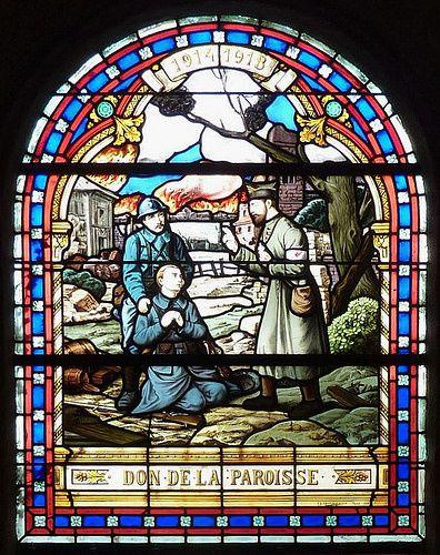 Vitrail de l'église de Trédaniel (22) – 1919, Ch Champignolle, Paris