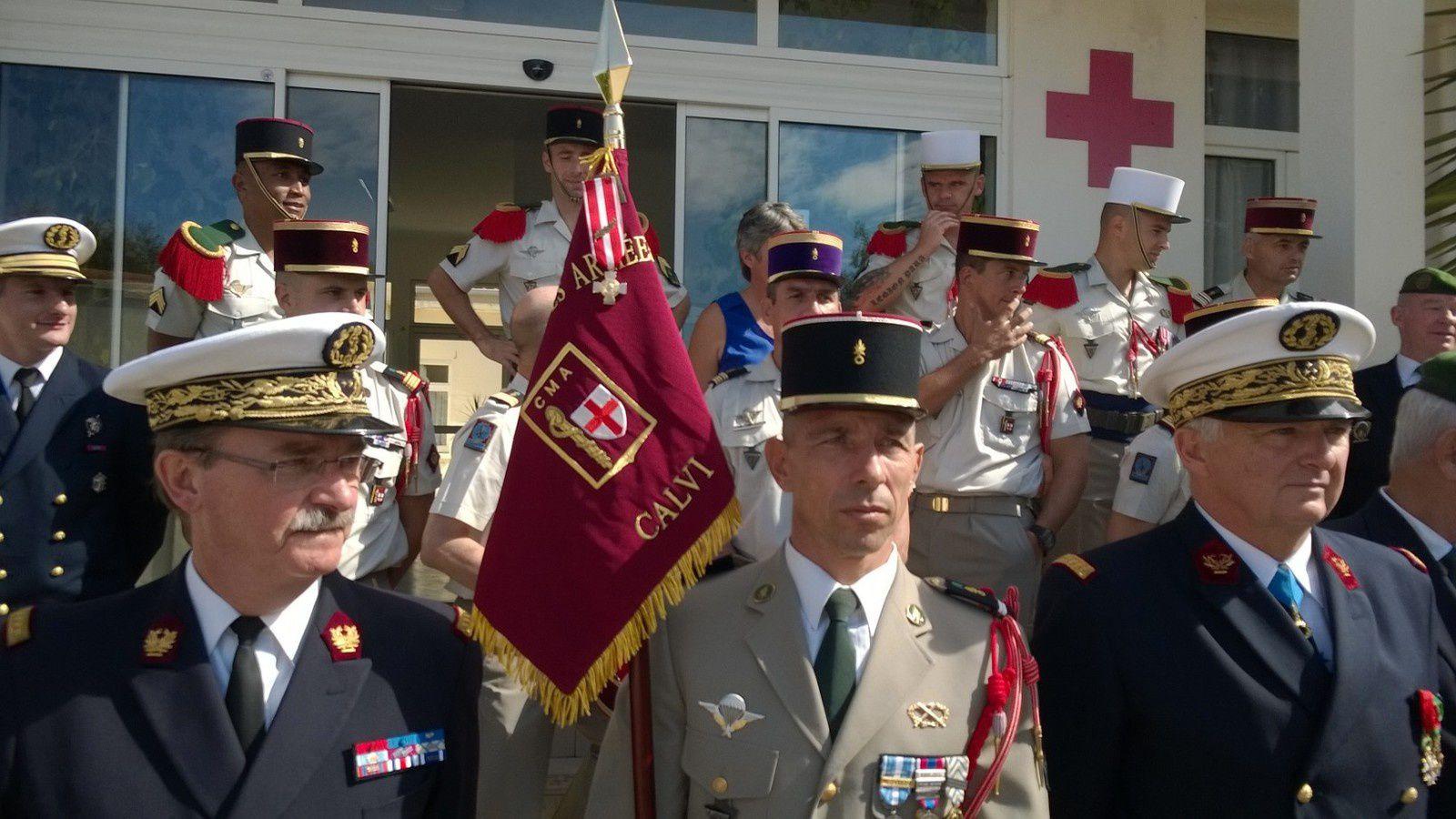 Le CMA de Calvi décoré de la croix de la valeur militaire