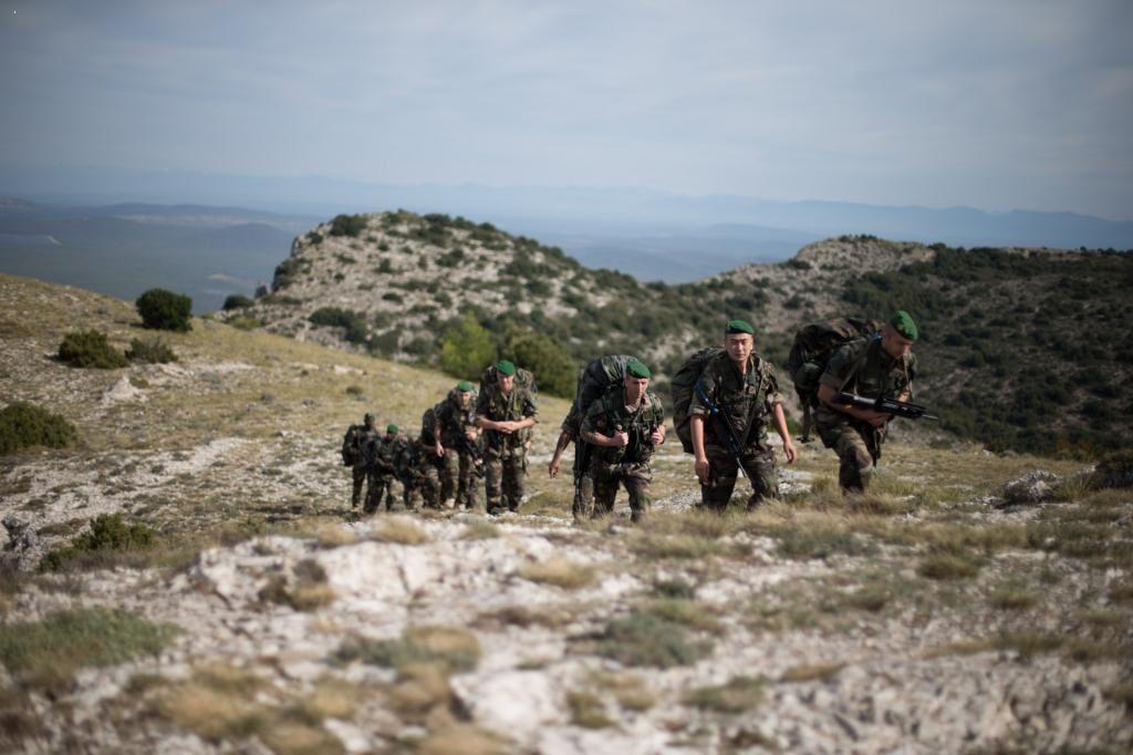Marche régimentaire de rentrée au 1e RE
