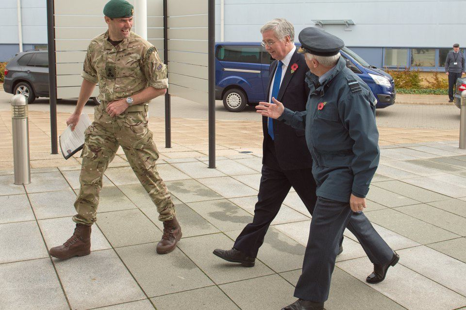 Defence Secretary Michael Fallon visits home of the Joint Forces Intelligence Group