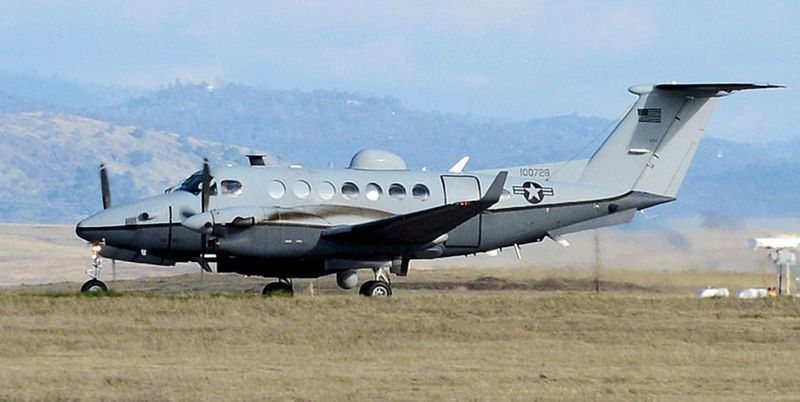 MC-12 Liberty taking off from Beale AFB, 25 January 2013 photo USAF