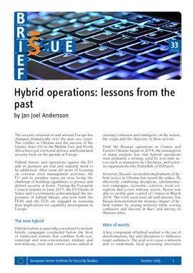 Hybrid operations: lessons from the past