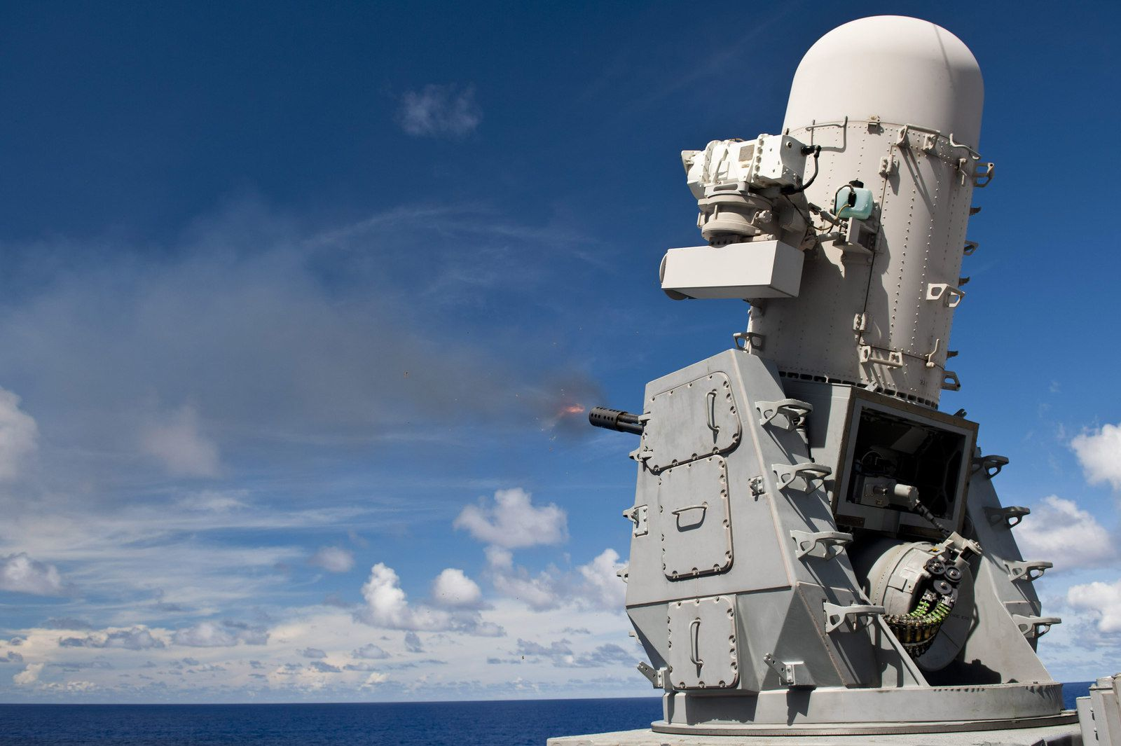"Close-in defense systems provide ""last chance"" ship defense- photo Raytheon"