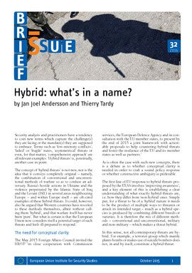 Hybrid: what's in a name?
