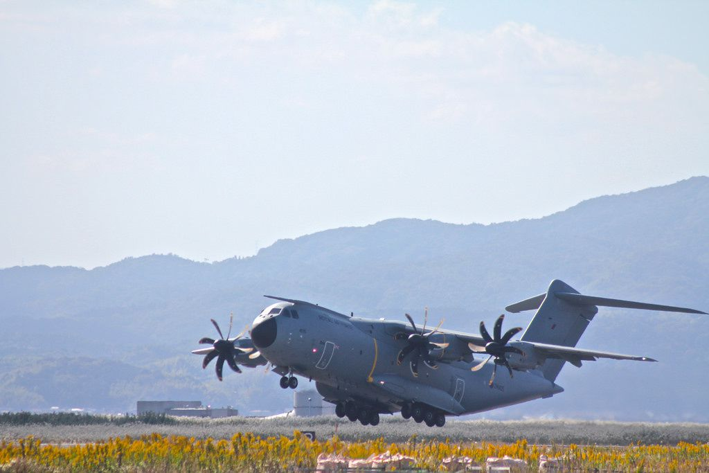 Royal Air Force A400M Atlas aircraft visits Japan