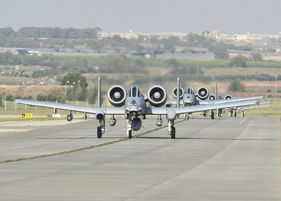 12 A-10C Thunderbolt IIs deployed to Incirlik, Turkey AB in support of Operation Inherent Resolve photo USAF