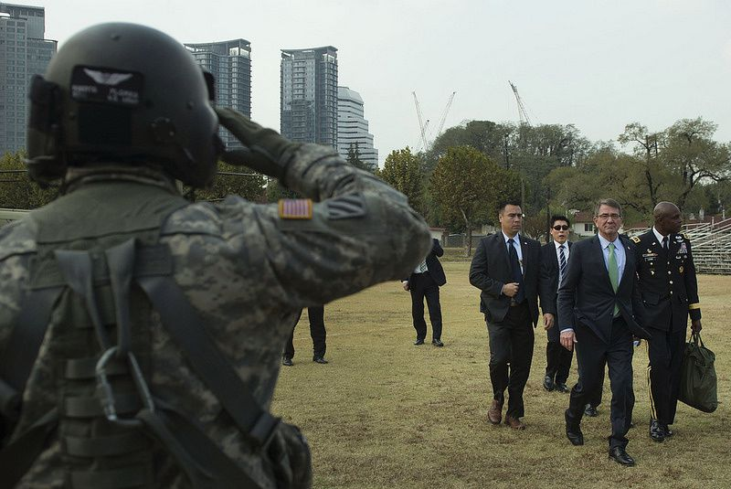Secretary of Defense Ash Carter departs the 47th annual U.S. - Korea Security Consultative Meeting in Seoul, Republic of Korea Nov. 2, 2015