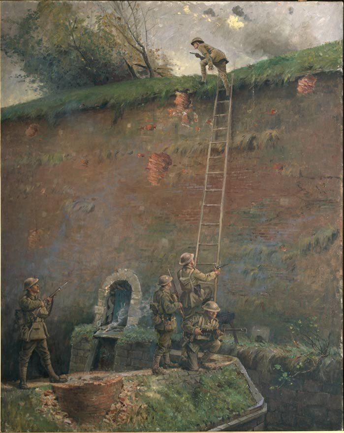 Capture of the walls of Le Quesnoy by George Edmund Butler, 1920