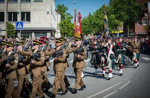 Fallingbostel farewell parade. Dominic King, photo UK MOD