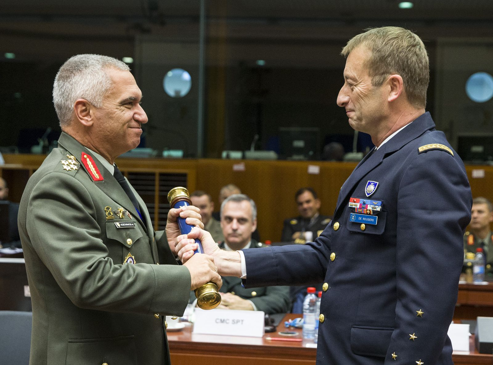 Transfer of Authority between General de Rousiers and General Kostarakos - photo EUMC