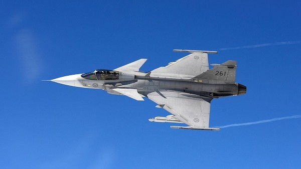 Swedish Air Force Gripen fighter aircraft - photo Saab
