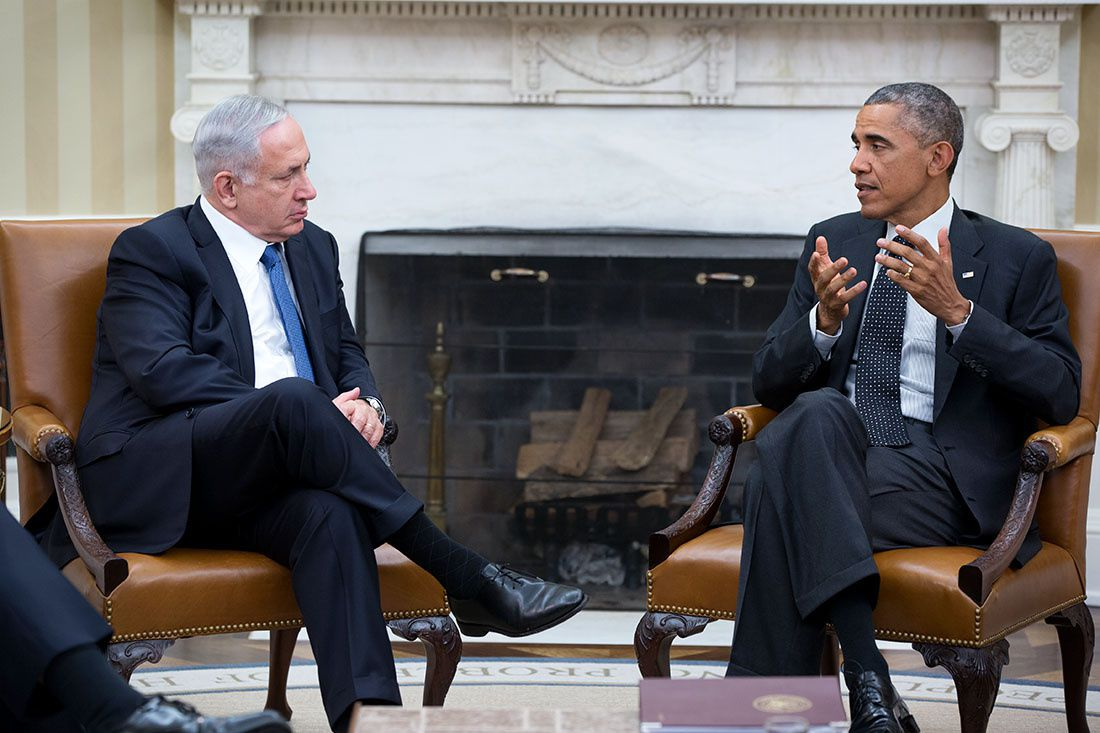 Le President Barack avec Benjamin Netanyahu (Oct 1, 2014 - Official White House Photo by Pete Souza)
