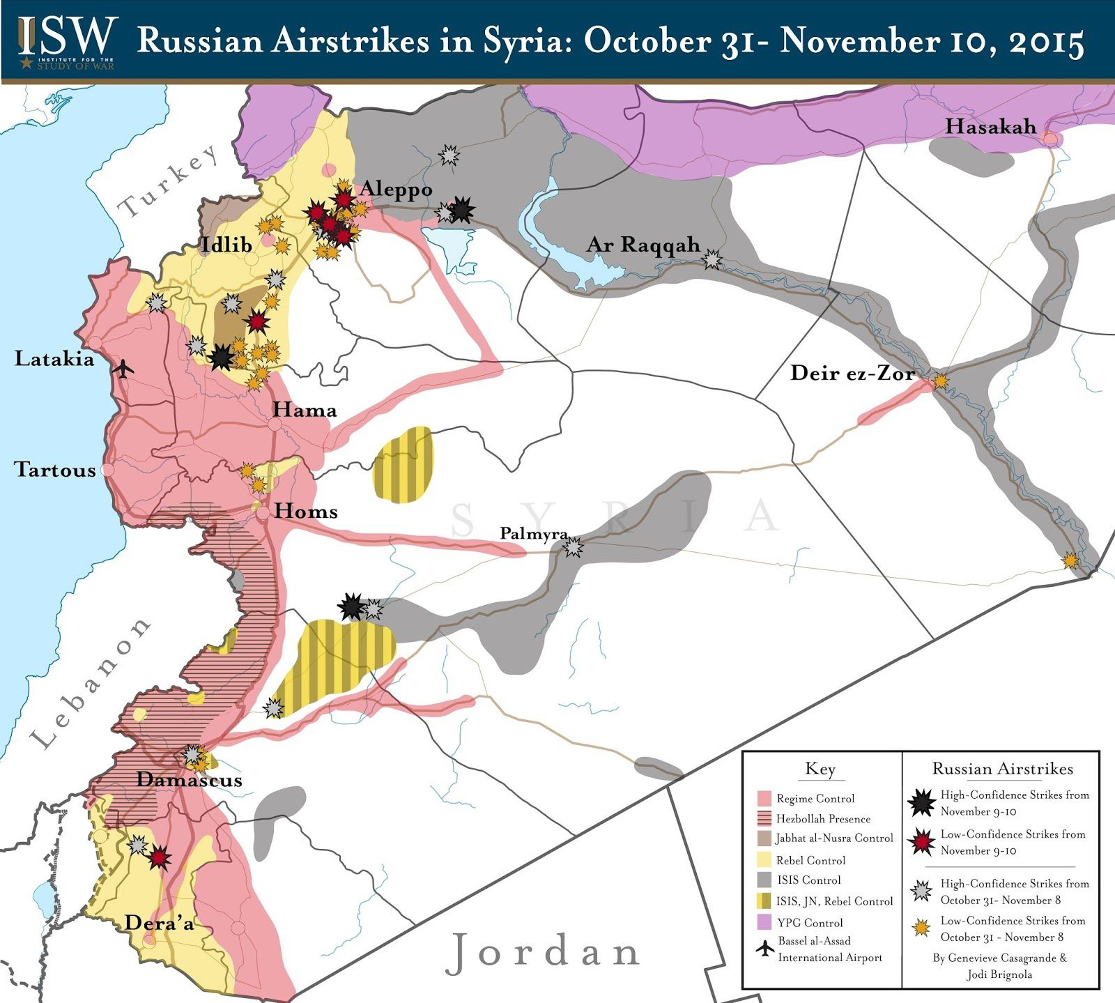 Russian Airstrikes in Syria: October 31 - November 10, 2015