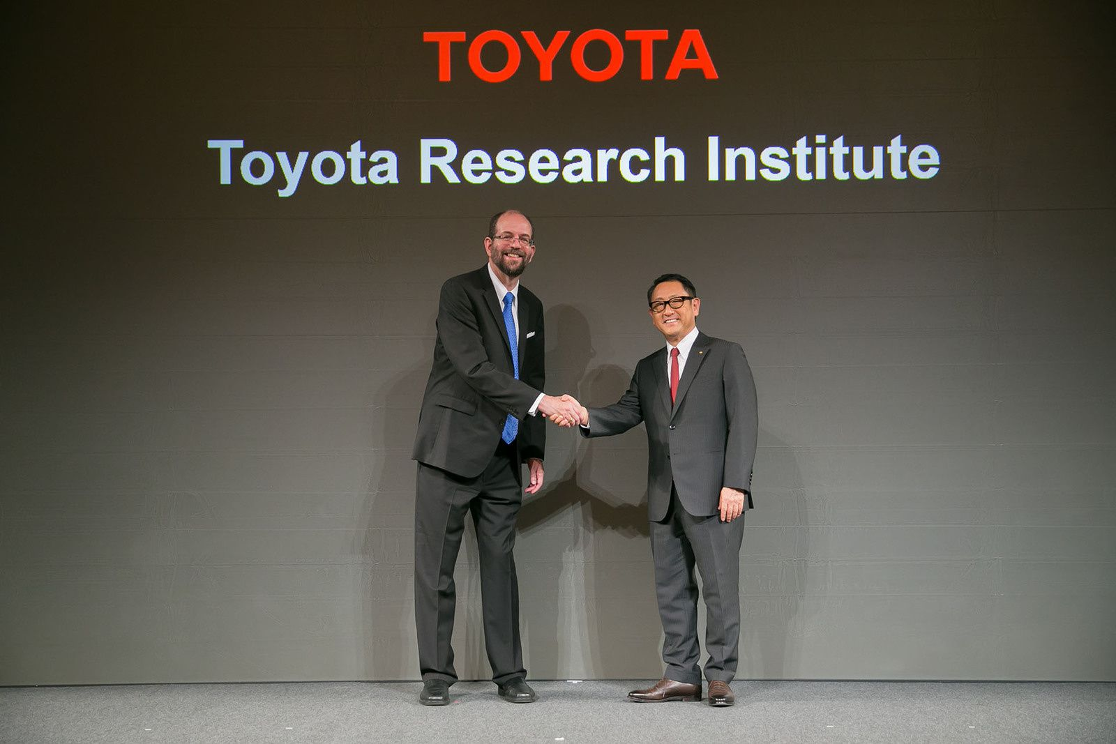 Executive Technical Advisor Gill A. Pratt with President Akio Toyoda photo Toyota