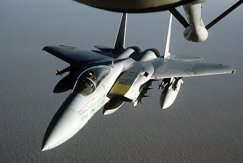 Royal Saudi Air Force F-15 Eagle fighter aircraft - photo USAF