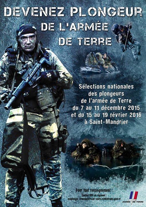 Sélections nationales de plongeur de l'armée de Terre du 15 au 19 février 2016