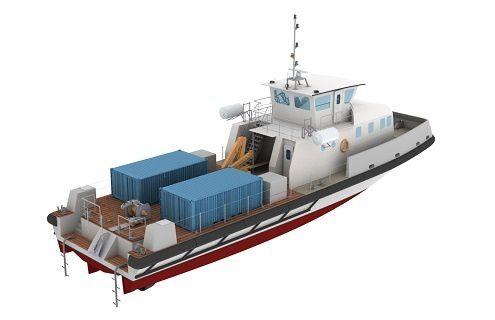 Les chalands multi-missions seront les premiers bâtiments à propulsion hybride avec batteries en service dans la marine. - H2X - cabinet Mauric