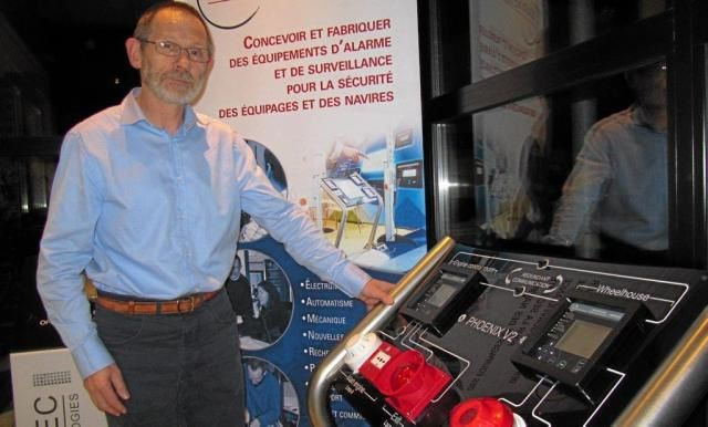 Pascal Citeau, dirigeant de Marinelec Technologies - photo Ouest France