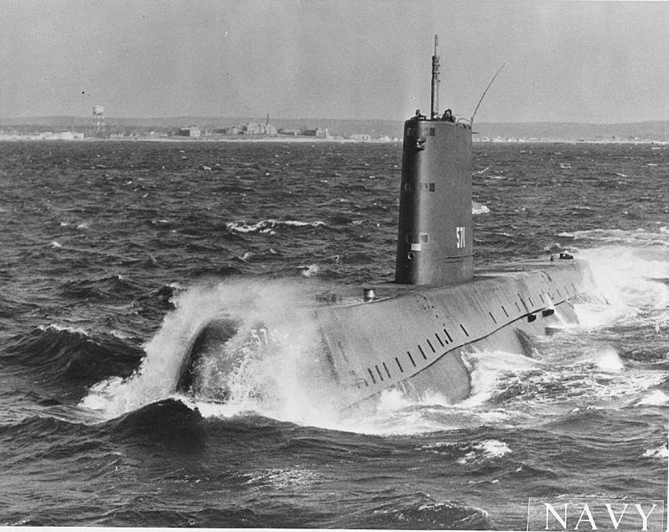 USS Nautilus (SSN-571) on sea trials - photo US Navy