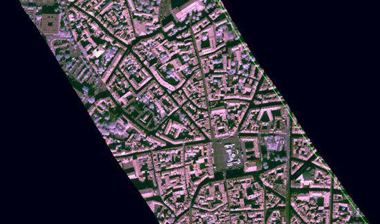 Image infrarouge extraite d'une image hyperspectrale de la caméra Hyspex proche infrarouge ©ONERA