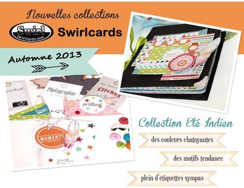 les nouvelles collections d'automne/hiver Swirlcards!ET une  page