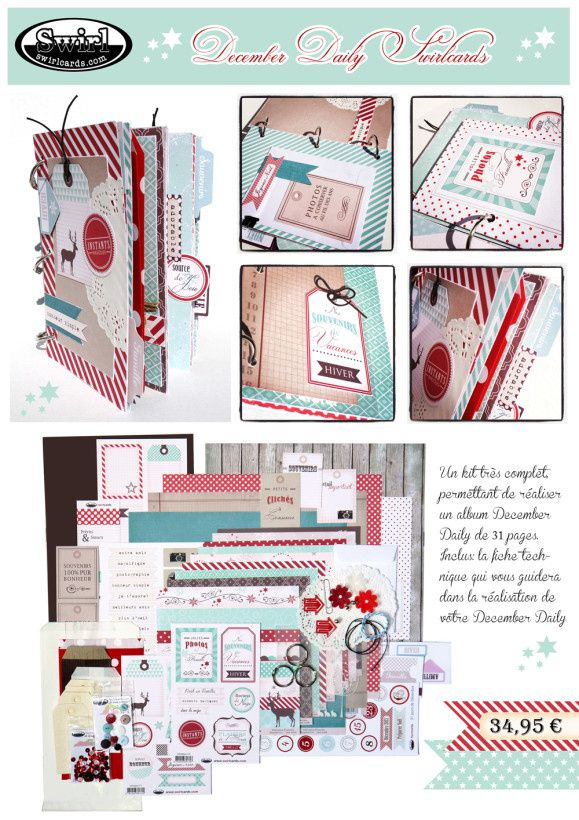Kit December Daily Swirlcards
