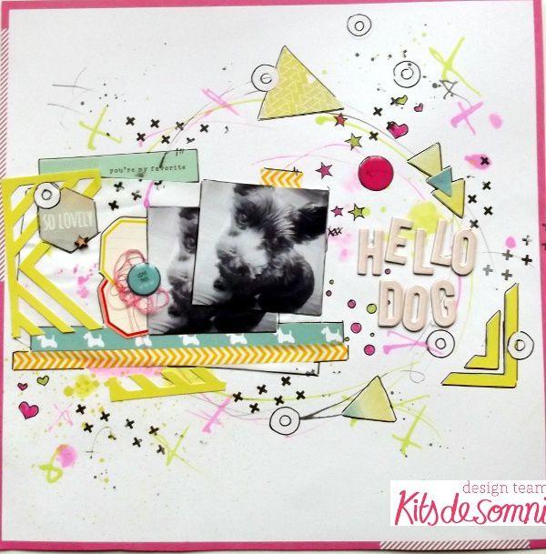Mes réas pour Kits de Somni avec le kit d'octobre: 4 pages et un mini!!!!