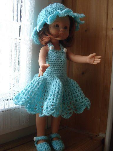 Fiche gratuite vêtements de poupée N° 146: ensemble turquoise
