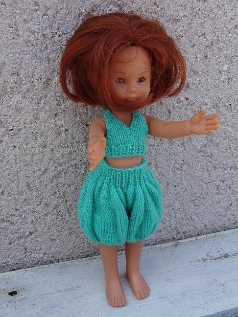 Fiche gratuite vêtements de poupée N° 157: short &quot&#x3B;sarouel' et haut Chéries de Corolle