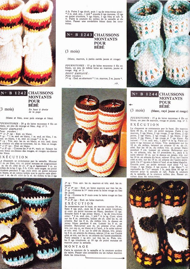 Layette: des chaussons