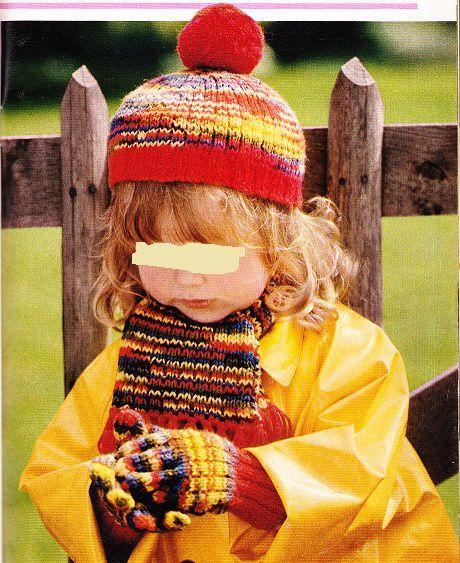 Bonnet, écharpe et gants enfants