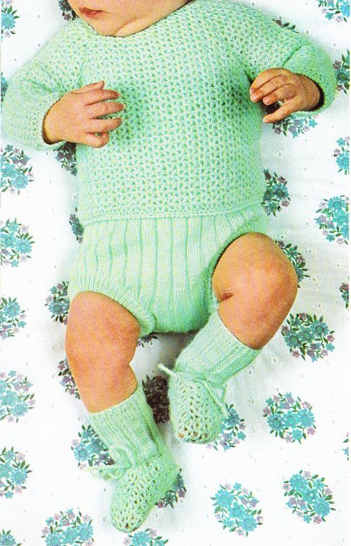 Layette: ensemble crochet tricot