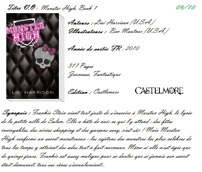Monster High, Tome 1 de Lisi Harrison