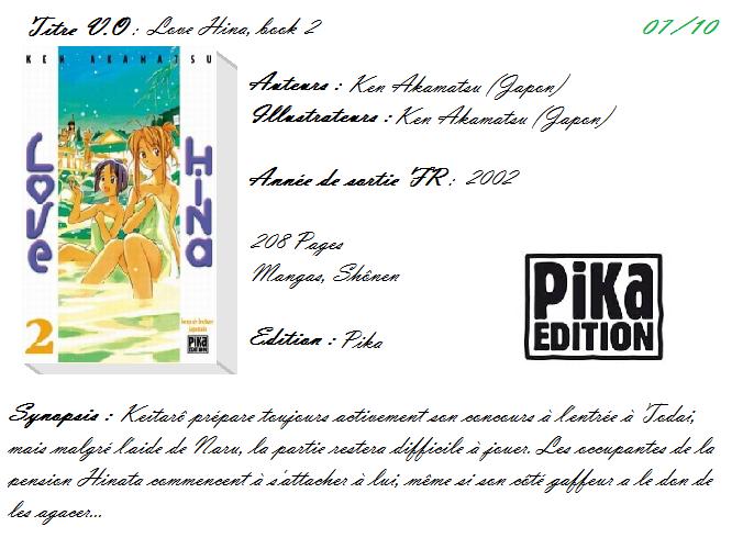 Love Hina, tome 2 de Ken Akamatsu