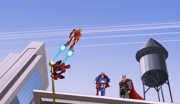 Chemtrails subliminaux dans Avengers : L'Équipe des super-héros !