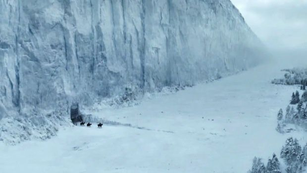 Le mur de glace de la série Game Of Thrones